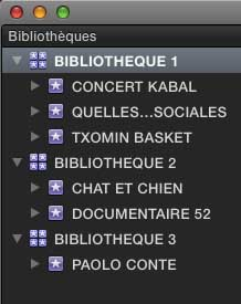 PLUSIEURS BIBLIOTHEQUES